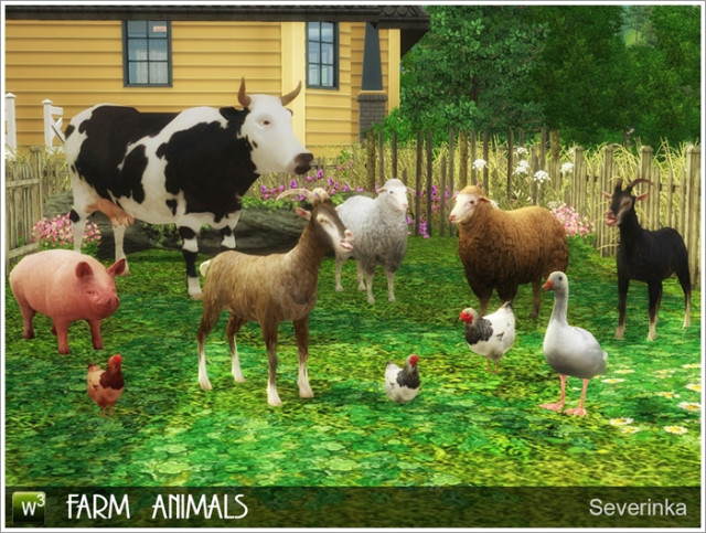Farm animals converted by Severinka