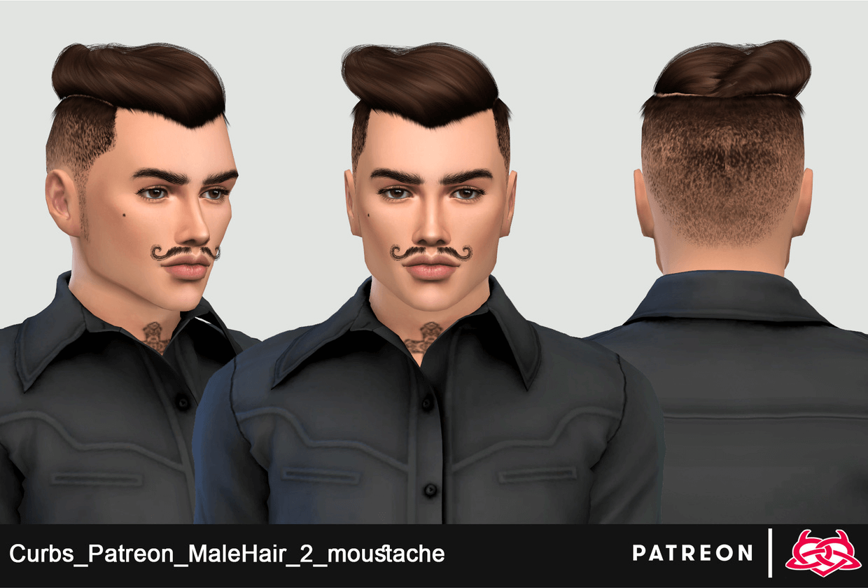 MaleHair_2_moustache by Colores-Urbanos (Curbs)