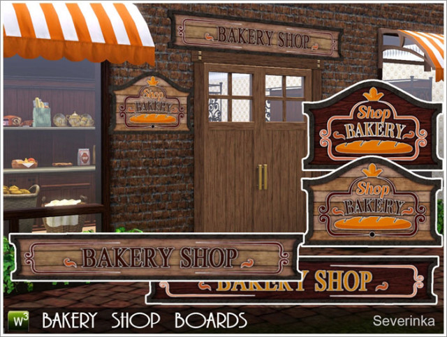 Bakery shop boards by Severinka