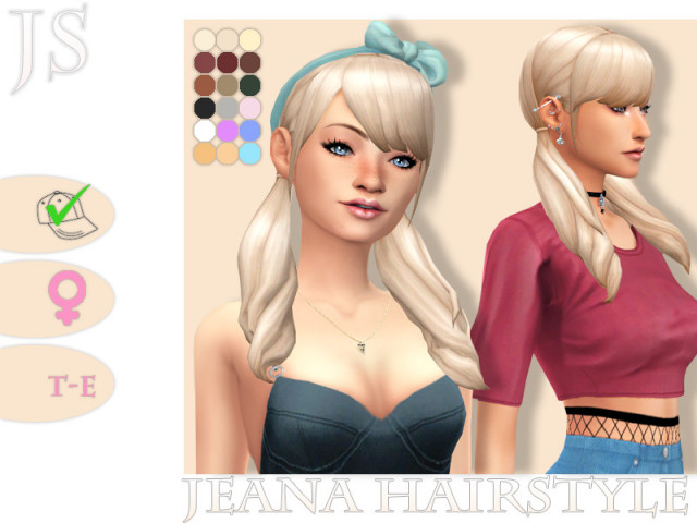 Jeana Hairstyle by JavaSims