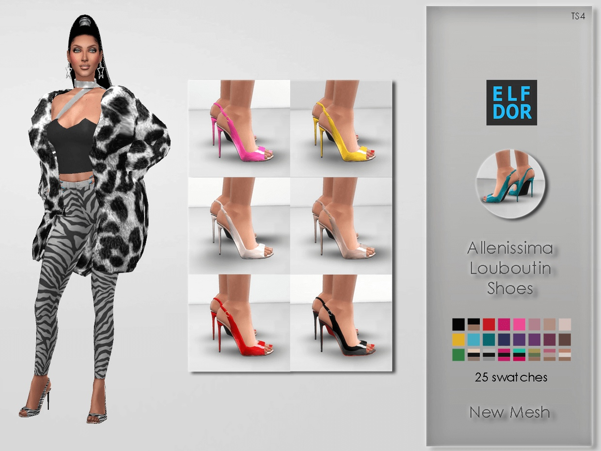 Allenissima Louboutin Shoes by Elfdor