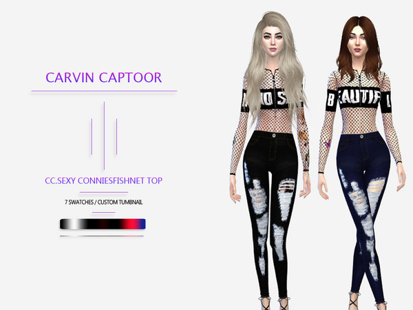 CC.Sexy Conniesfishnet top by carvin captoor
