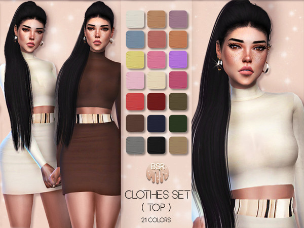 Clothes SET-01 (TOP & SKIRT) BD21 by busra-tr