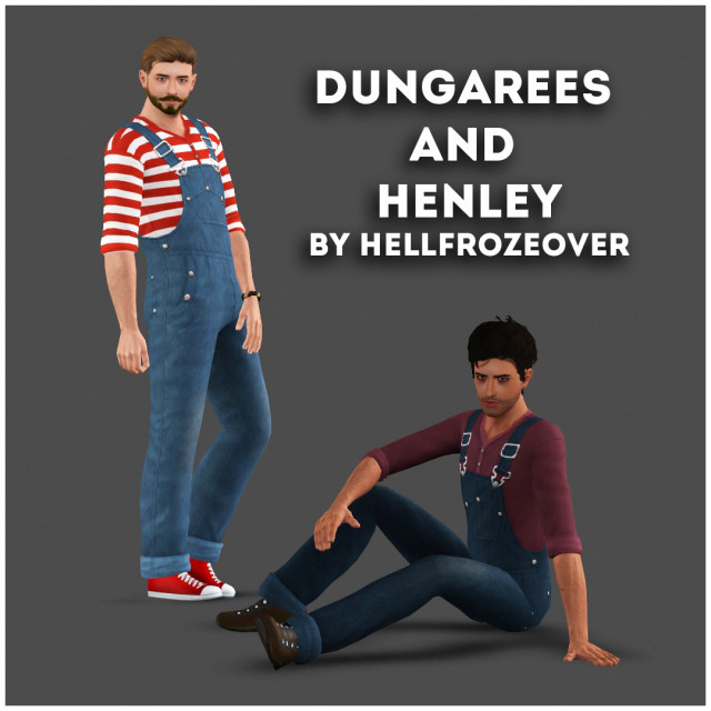 Dungarees and Henley by Hellfrozeover