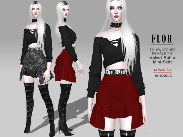 FLOR - The Witch - Skirt by Helsoseira
