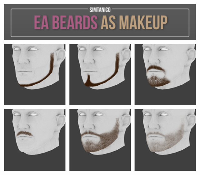 Beard as Makeup by Simtanico