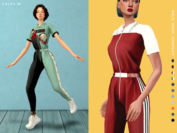 Polo Shirt Jumpsuit by ChloeMMM
