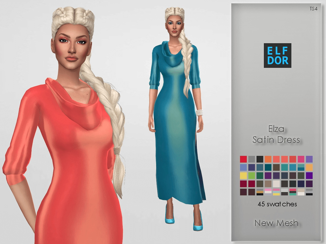 Elza Satin Dress by Elfdor