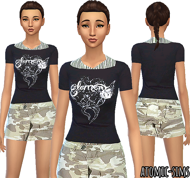 Sixsixsims female outfit conversion by Atomic-sims