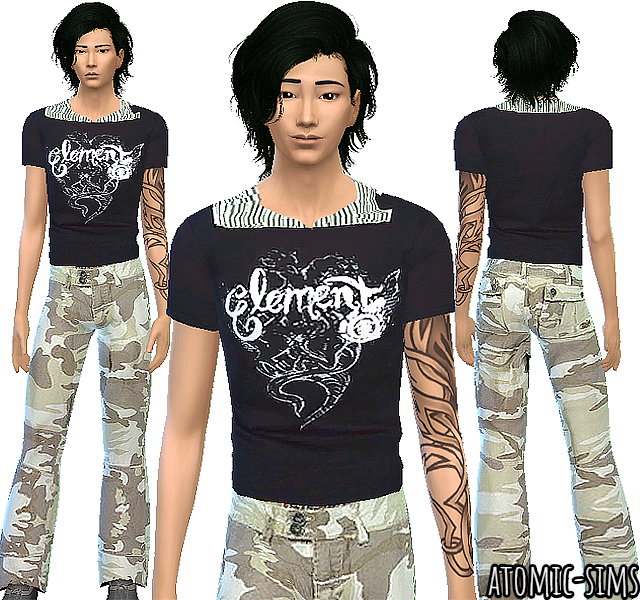Sixsixsims male outfit conversion by Atomic-sims