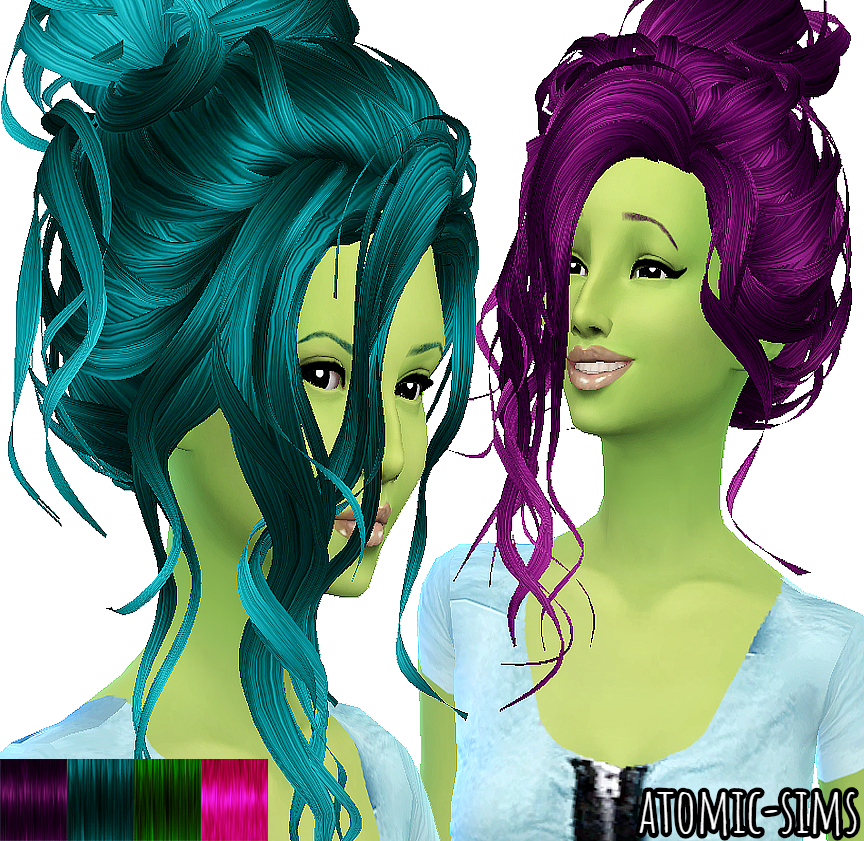 Trix Delicate hair neon retexture by Atomic-sims