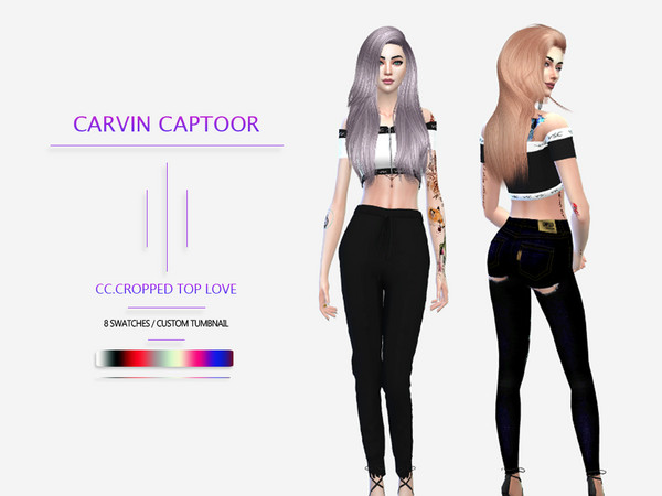 CC.Cropped top love by carvin captoor