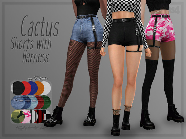 Trillyke - Cactus Shorts with Harness