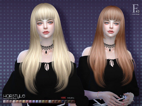 ts4 hair Hime n43 by S-Club