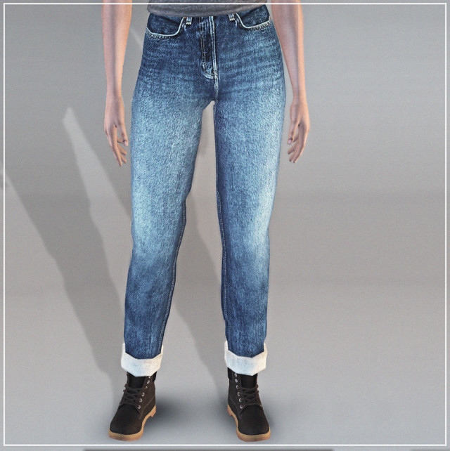 SimmerAddiction83 Cuffed Jeans conversion by Jesod-Sims