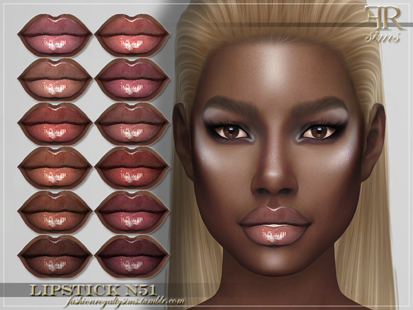 FRS Lipstick N51 by FashionRoyaltySims