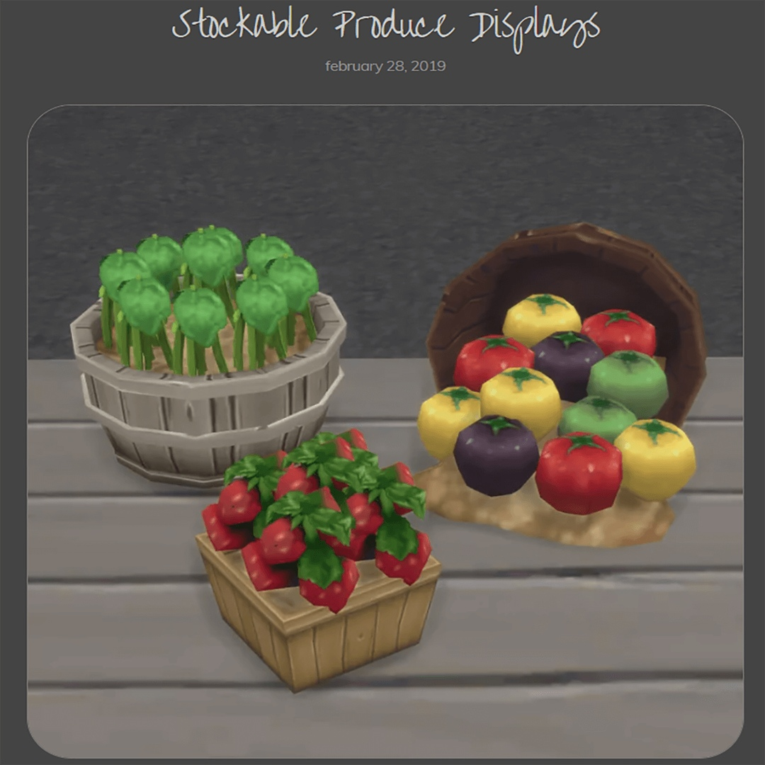 Stockable Produce Displays by Brazen Lotus