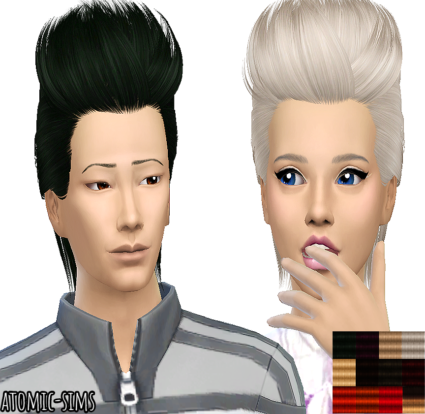 Skysims hair 234 retexture unisex by Atomic-sims