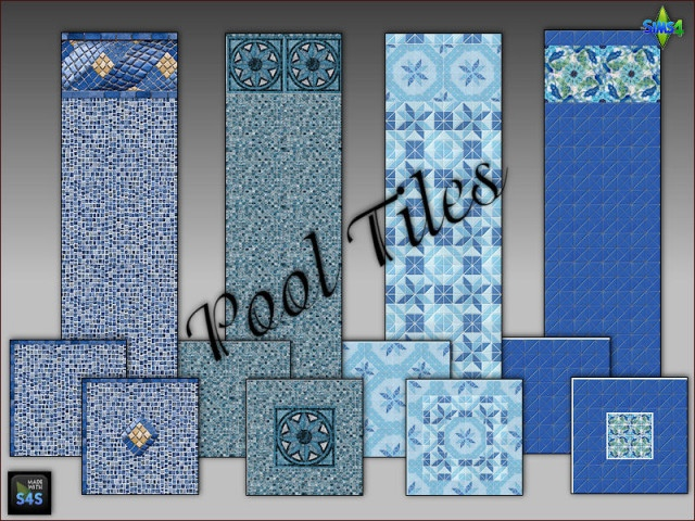 Pool tiles for walls and floors by Mabra