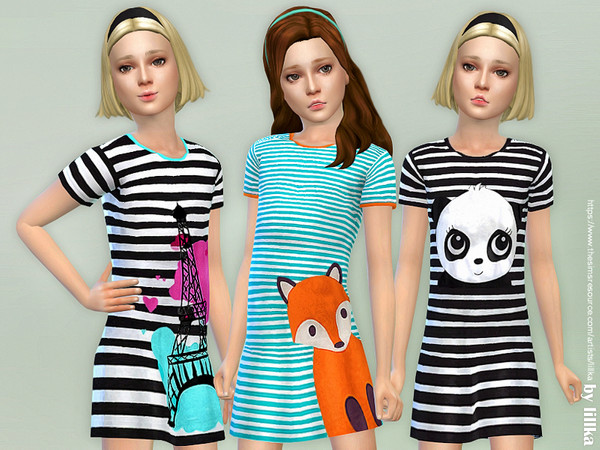Girls Dresses Collection P124 by lillka