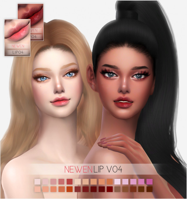 Sims4 Newen Lip V04 by Newen