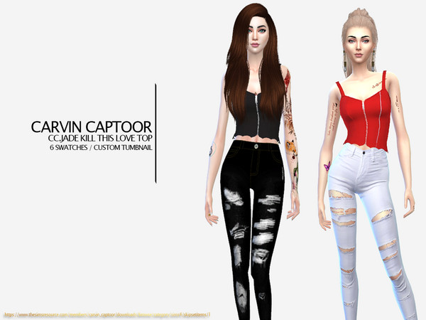 CC.Jade Kill this love top by carvin captoor