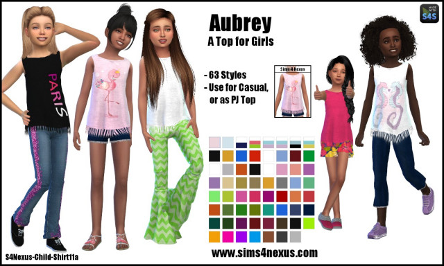 Aubrey top by sims4nexus