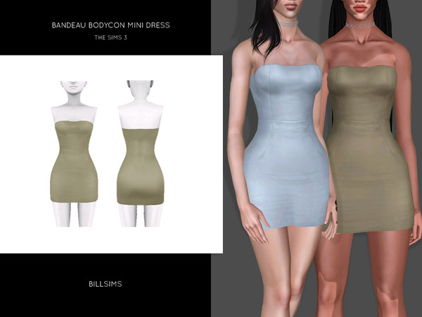 Bandeau Bodycon Mini Dress by Bill Sims