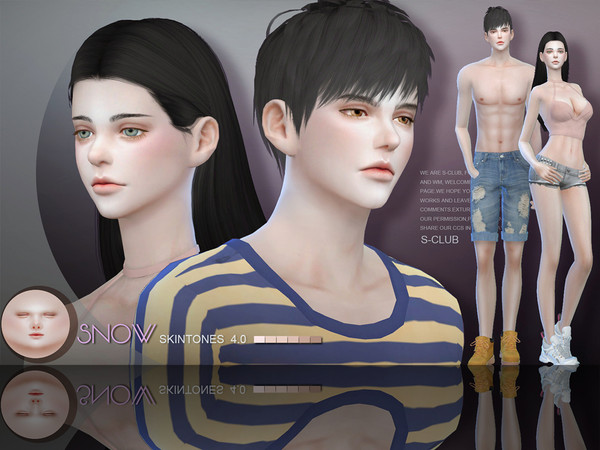 S-Club ts4 WMLL HS Snow Elf skintones(ALL AGE)