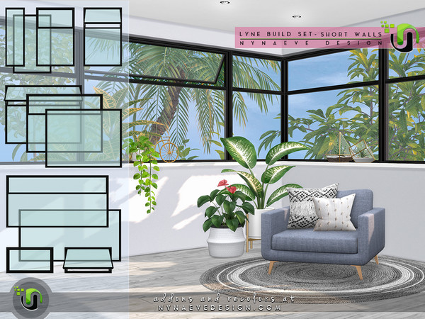 Lyne Build Set V - Half and Quarter Windows by NynaeveDesign