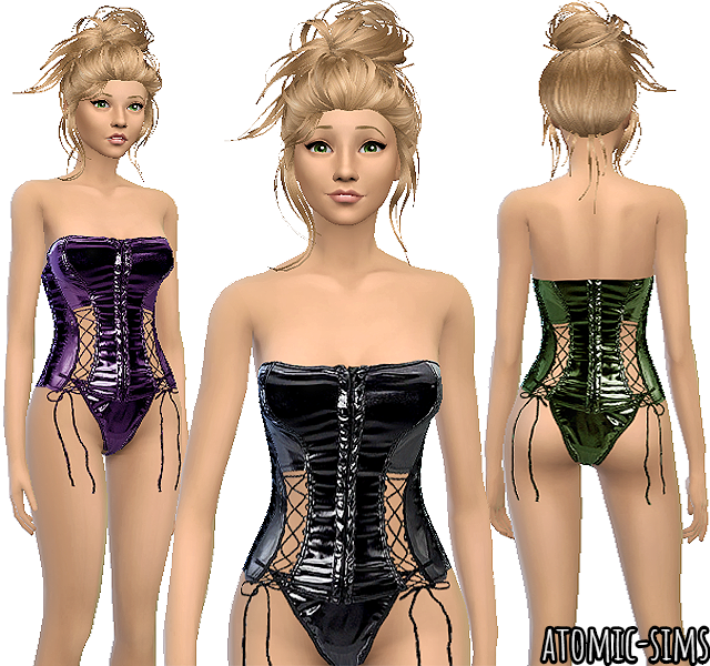 Latex corset by Atomic-sims