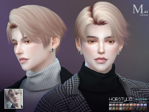 ts4 hair SeHun n44 by S-Club