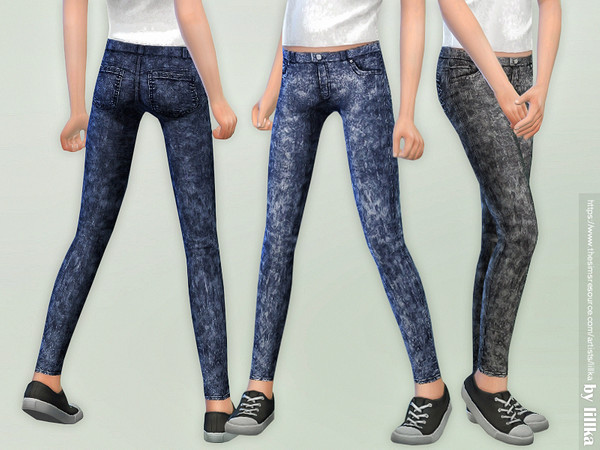 Skinny Jeans for Girls 04 by lillka