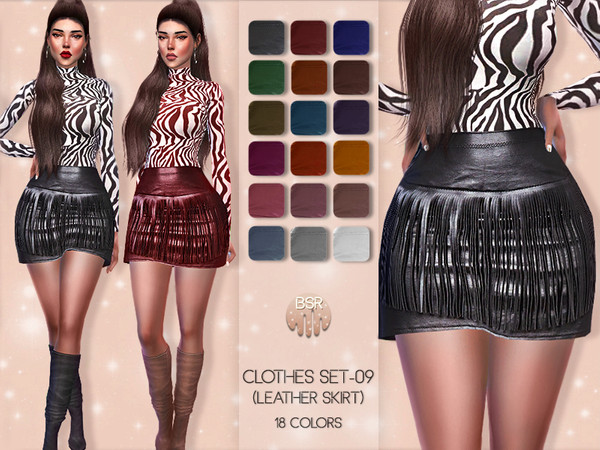 Clothes SET-09 (LEATHER SKIRT) BD47 by busra-tr