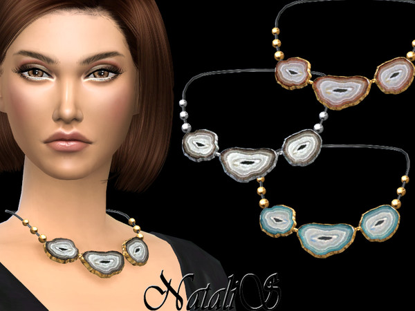 NataliS_Agate slices necklace