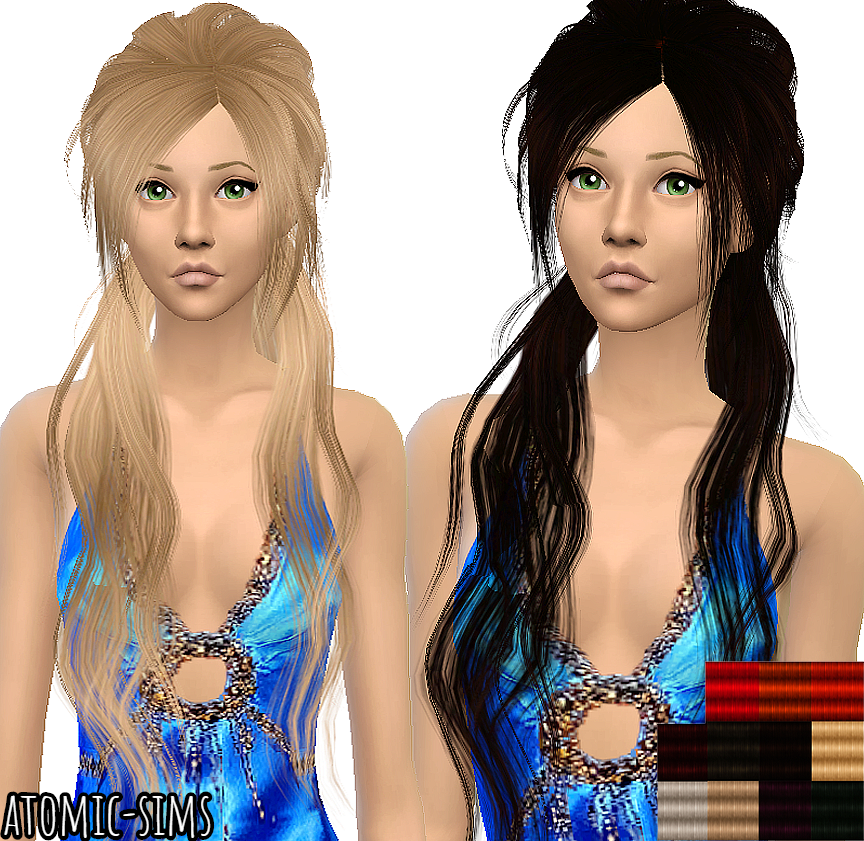 Xmsims3 Flora Hair 08 conversion by Atomic-sims