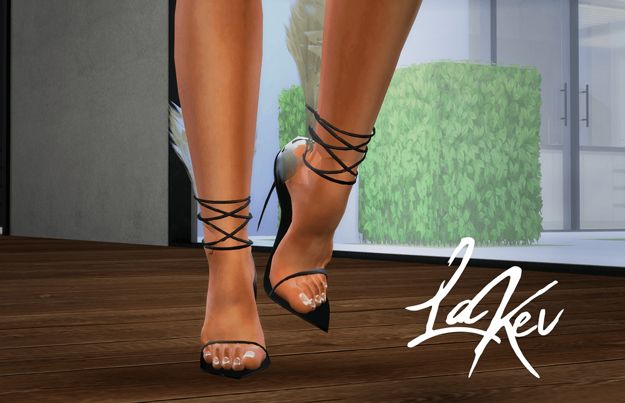 Le Kev Feather Heels by Kiko Vanity