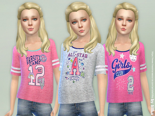 Sporty Tee for Girls by lillka