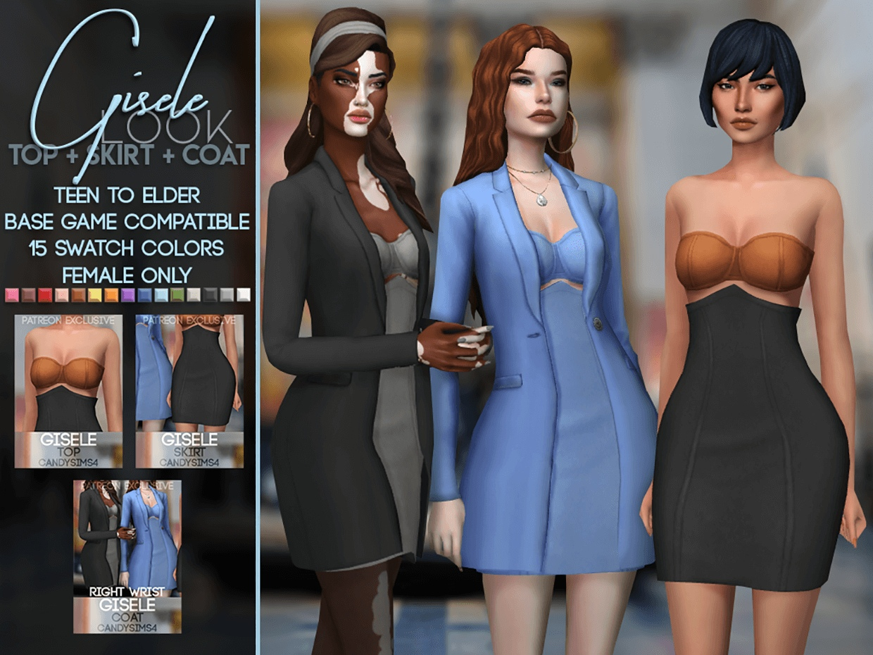 Gisele Outfit by CandySims4