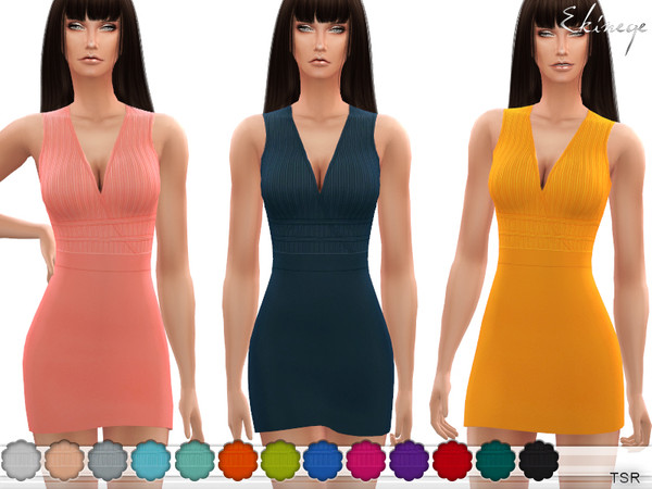 Surplice Mini Dress by ekinege