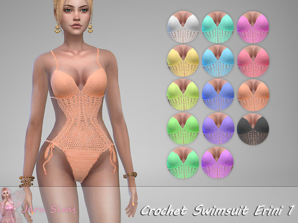 Crochet Swimsuit Erini 1 by Jaru Sims