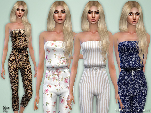 Strapless Jumpsuit by Black Lily