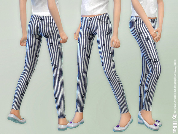 Striped Pants for Girls by lillka