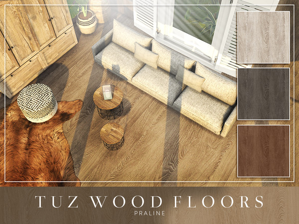 TUZ Wood Floors by Pralinesims