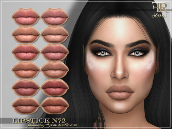 FRS Lipstick N72 by FashionRoyaltySims