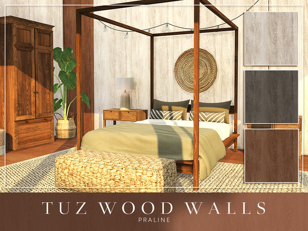 TUZ Wood Walls by Pralinesims