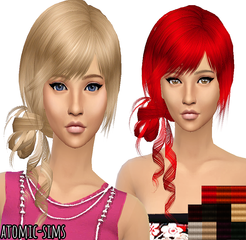 Xmsims3 Flora Hair 20 conversion by Atomic-sims