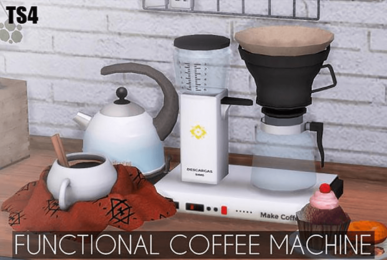 Functional Coffee Machine by Descargas Sims