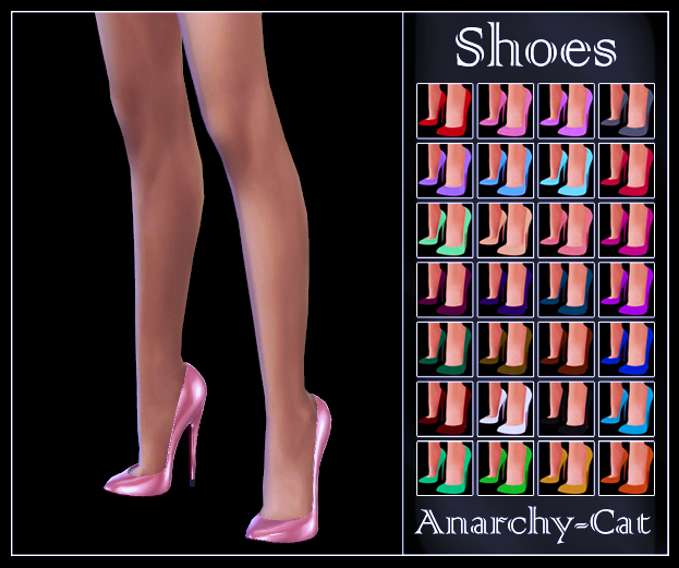 DallasGirl_Shoes Asha Pumps by Anarchy-Cat