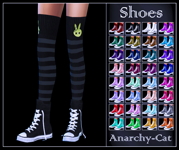 Converse Shoes by Anarchy-Cat